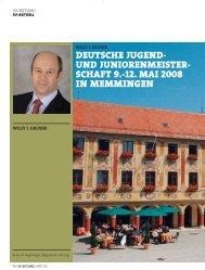 und juniorenmeister- schaft 9.-12. mai 2008 in memmingen
