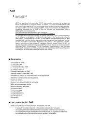 Sommaire Les concepts de LDAP - JRES 1999