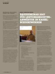 basisseminar 2007 für leistungsrichter– anwärter in kassel