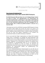 6. ADHS-Förderpreis - Shire Deutschland