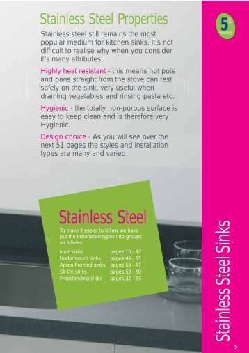 stainless steel inset - Raymac Kitchens