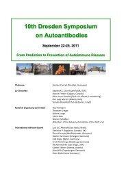 10th Dresden Symposium on Autoantibodies - GFID