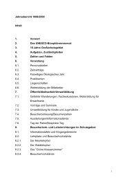 Jahresbericht 1999/2000 - im Biosphärenreservat Schaalsee