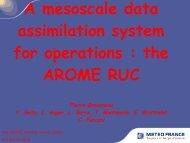 the AROME RUC - Météo France