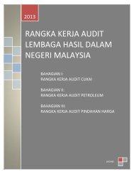 Rangka Kerja Audit LHDNM 2013