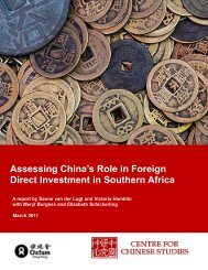 Assessing China's Role in Foreign Direct Investment in Southern ...