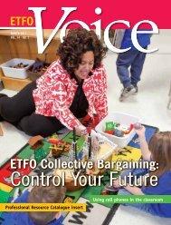 Winter 2011 - ETFO Voice Magazine