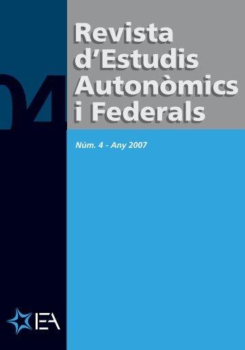 Revista d'Estudis Autonòmics i Federals Revista d ... - ISSiRFA - Cnr