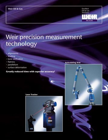 Precision Measurement Tech. - Weir Oil & Gas Division