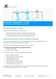 Business-Trainer(in) & -Coach - Competence on Top