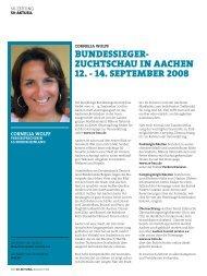 zuchtschau in aachen 12. - 14. september 2008