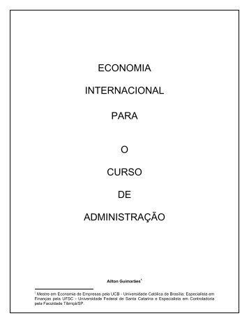 economia internacional para o curso de administração