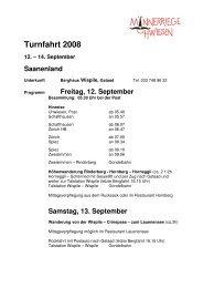 Turnfahrt 2008 12. – 14. September Saanenland - Schaffhausen.ch