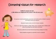 Donating tissue for research