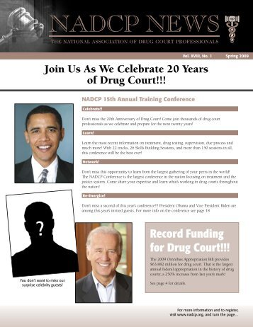Record Funding for Drug Court!!! - National Drug Court Institute