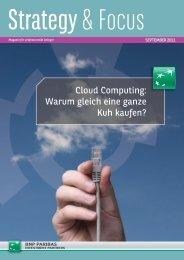 Cloud Computing: Warum gleich eine ganze Kuh kaufen?