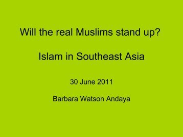 Will the real Muslims stand up? - AsiaPacificEd Crossings
