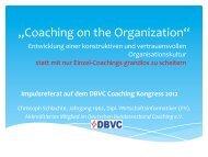 """""""Coaching on the Organization"""" - Deutscher Bundesverband ..."""