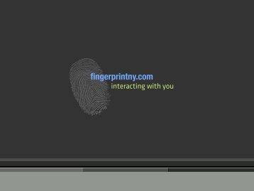 Bobble bottle design - fingerprint
