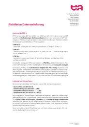 Richtlinien Datenanlieferung