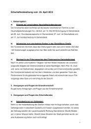 ORM, Protokoll vom 25.04.2012 - bei der Stadt Sindelfingen