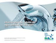 Informe anual de calidad del agua potable del año 2007