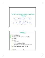 Talk slides [406 kB-pdf] - Graphics Hardware