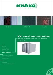 MWS mineral wool sound insulator - Schako