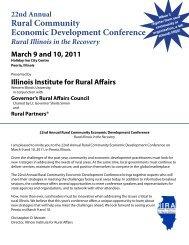 22nd Annual Rural Community Economic Development Conference ...