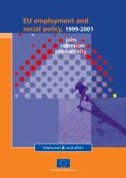 EU employment and social policy 1999-2001: jobs ... - Europa