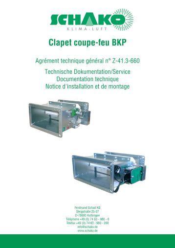 Clapet coupe feu isone 1500 aldes - Installation clapet coupe feu ...