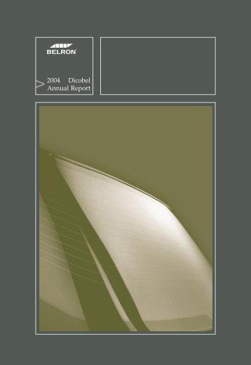 2004 Dicobel Annual Report - D'Ieteren
