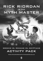 Rick Riordan Myth Master Resource Pack - Percy Jackson