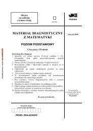 Arkusz diagnostyczny MATURA 29.12.2008 - Gazeta.pl