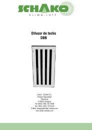 DBB Difusor de techo - Schako
