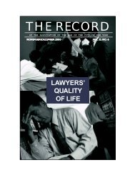 THE RECORD - New York City Bar Association