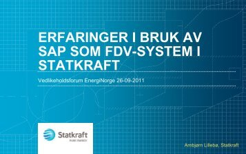 vedlikeholdsprosess - Energi Norge