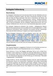 Kollegiale Fallberatung - MACH1 Weiterbildung