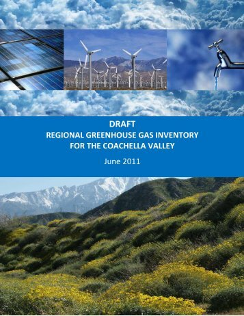 Greenhouse Gas Inventory for the Coachella Valley - CVAG