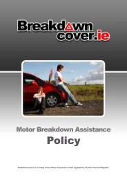 Policy - Blue Insurances
