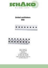 DSA Unidad multitobera - Schako