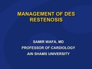 MANAGEMENT OF DES RESTENOSIS