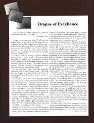 Origins of Excellence - James Graham Prusa