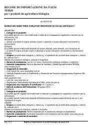 Allegato III Elenco dei paesi terzi - Sistema d'informazione nazionale ...