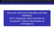 Tema XIII: CÁLCULO INTEGRAL EN UNA VARIABLE XIII.5 ...