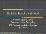 Building Rural Livelihood - Community Strategies Group