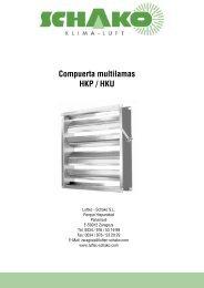 HKP / HKU Compuerta multilamas - Schako