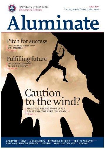 to thewind? Caution - University of Edinburgh Business School