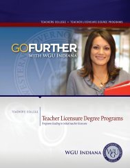 Teacher Licensure - Indiana Online University - Western Governors ...