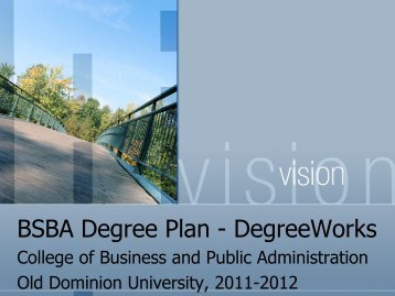 BSBA Degree Plan - College of Business & Public Administration